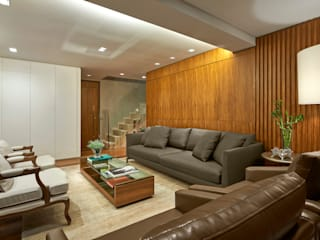 Livings de estilo  por Juliana Goulart Arquitetura e Design de Interiores