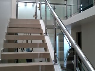 A-labastrum arquitectos Stairs Ceramic Grey
