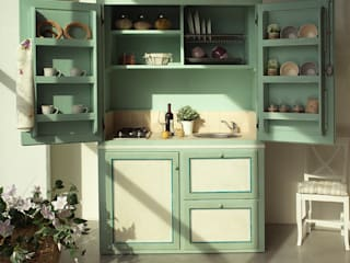 LA BOTTEGA DEL FALEGNAME Kitchen Solid Wood Green