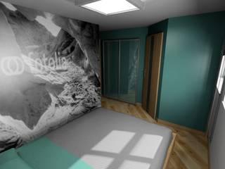 sypialnia Nowoczesna sypialnia od Plan Design Katarzyna Szczucka Projektowanie Wnętrz Nowoczesny