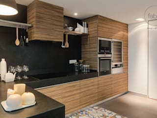 FABRI Eclectic style kitchen Wood effect