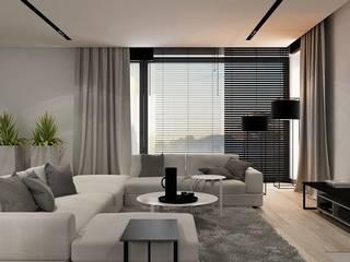 N.M. House OMCD Architects Minimalistyczny salon