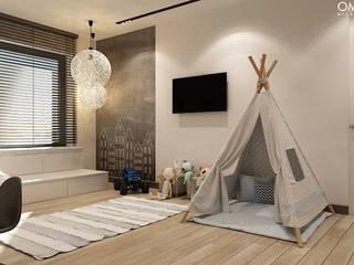 N.M. House Minimalistyczny pokój dziecięcy od OMCD Architects Minimalistyczny
