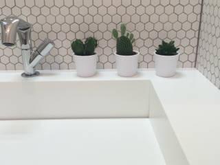 Minimalistyczna umywalka od Luxum Minimalistyczna łazienka od Luxum Minimalistyczny