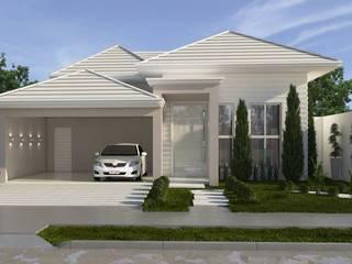 Perfil sólido com traços leves Casas clássicas por Celis Bender Arquitetura e Interiores Clássico