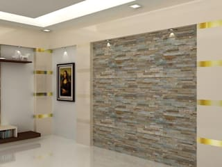Living Area:  Living room by Splendid Interior & Designers Pvt.Ltd