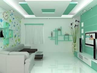 Living Area: modern Living room by Splendid Interior & Designers Pvt.Ltd