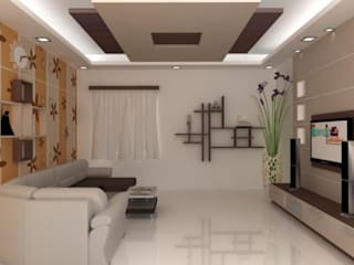 Living Area Modern living room by Splendid Interior & Designers Pvt.Ltd Modern