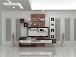 TV Units: modern  by Splendid Interior & Designers Pvt.Ltd ,Modern