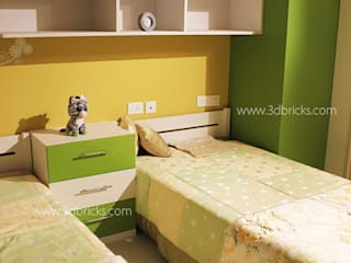 Interiors Modern style bedroom by 3DBricks Modern