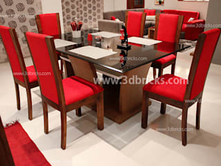 Flat Interiors Modern dining room by 3DBricks Modern
