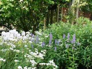 Weelderige border in cottagestijl Landelijke tuinen van Carla Wilhelm Landelijk