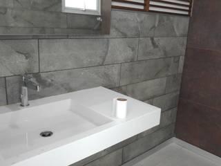 Hogar y Cerámica S.A. de C.V. 現代浴室設計點子、靈感&圖片 陶器 Grey