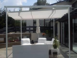Palilleria ZEN  4 patas (pérgola) motorizada para exterior jardin:  de estilo  por HLA181026V73