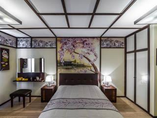 Квартира-путешествие. Fusion Design Спальня в азиатском стиле Дерево