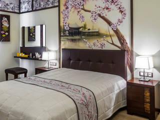 Квартира-путешествие. Fusion Design Спальня в азиатском стиле