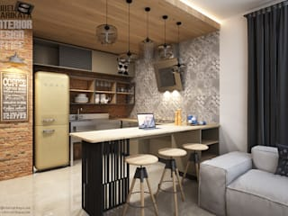 SIBEL SARIKAYA INTERIOR DESIGN OFFICE Industrial style kitchen