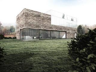 Dom z ćwierć kolebką: styl , w kategorii  zaprojektowany przez RTP Consulting Sp. z o.o.