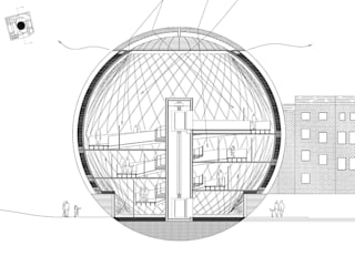 Spherical Art Gallery:  Media room by Simone de Gale Architects