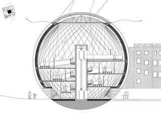 Spherical Art Gallery Modern media room by Simone de Gale Architects Modern