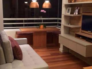 APARTAMENTO 37M²: Salas de estar  por Elisa Vasconcelos Arquitetura  Interiores,Moderno