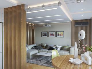 Квартира в экостиле.: Гостиная в . Автор – Никитин Артур