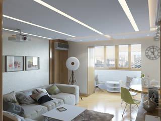 Квартира в экостиле. Гостиная в стиле модерн от Никитин Артур Модерн