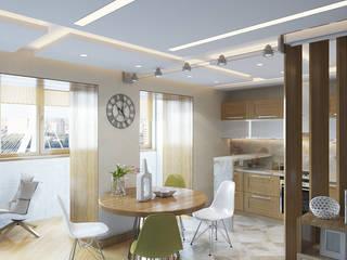 Квартира в экостиле.: Кухни в . Автор – Никитин Артур