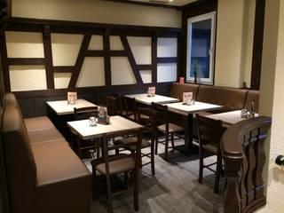 Umbau Restaurant Chamäleo Fa. RESANEO® Moderne Gastronomie Holz Weiß