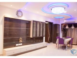 Mr.Sunder Raj Modern living room by IN-CUBE STUDIO Modern