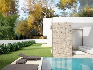 Residencial Anna Moraira: Jardines de estilo  de Nuam