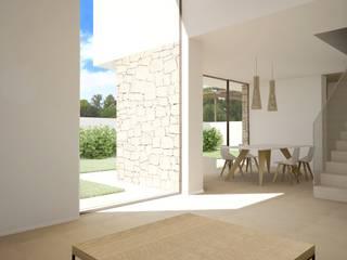 Residencial Anna Moraira: Salones de estilo  de Nuam