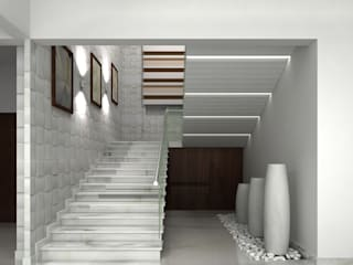 RESIDENTIAL INTERIORS AT TRICHY. (www.depanache.in):  Corridor & hallway by De Panache  - Interior Architects