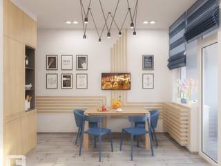 Квартира для молодого парня в скандинавском стиле Кухня в скандинавском стиле от Giovani Design Studio Скандинавский