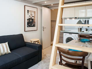 Apartment Rehabilitation in the Chiado District Architecture TOTE SER Salas de estar modernas