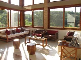 Salon rustique par Studio LK Arquitetura e Interiores Rustique