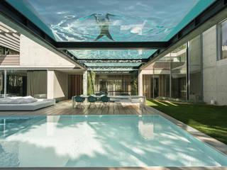 The Wall House: Piscinas minimalistas por guedes cruz arquitectos