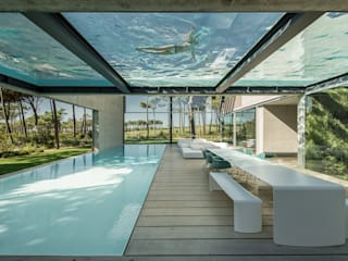 Balcone, Veranda & Terrazza in stile minimalista di guedes cruz arquitectos Minimalista
