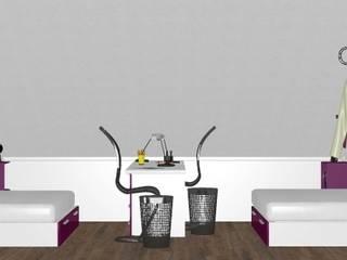 DUE RAGAZZE IN SOFFITTA Camera da letto moderna di ANNA NOCERINO Moderno