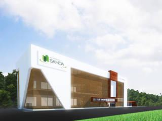 Proyectos comerciales: Centros comerciales de estilo  por Jorge Osorio Arquitecto, Moderno