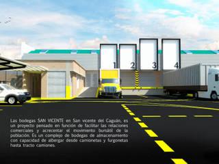 Bodegas de almacenamiento: Bodegas de estilo  por Jorge Osorio Arquitecto, Moderno