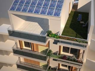 Vista aérea: Edificios de Oficinas de estilo  por Estudio Feldman - Arquitectura Sustentable