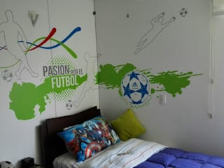 Pasión por el futbol Habitaciones modernas de Flap deco Moderno