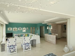Nizza - Abitazione privata: Soggiorno in stile  di Antonio Locati - Studio di Architettura