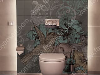 Banyo Fayans Baskıları FayansArt BanyoDekorasyon Seramik Rengarenk