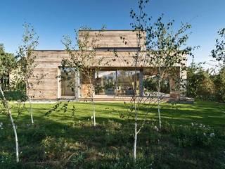 Fassaden und Terrassen aus Red Cedar + Gartengestaltung Moderne Häuser von Ecologic City Garden - Paul Marie Creation Modern