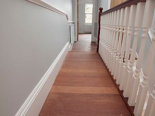 Full interior house painting, South West London Classic style corridor, hallway and stairs by The Hamilton Group Classic