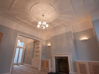 Full interior house painting, South West London Classic style living room by The Hamilton Group Classic