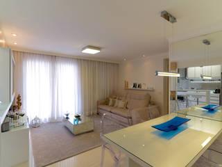 RAFAEL SARDINHA ARQUITETURA E INTERIORES Ruang Keluarga Modern
