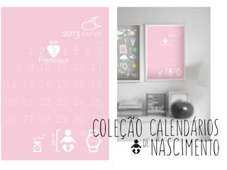 Calendário de nascimento -  Birthday calendar:   por MyNest,Moderno